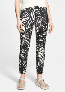 Lafayette 148 New York Print Stretch Cotton Crop Pants