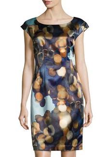 Lafayette 148 New York Printed Cap-Sleeve Sheath Dress