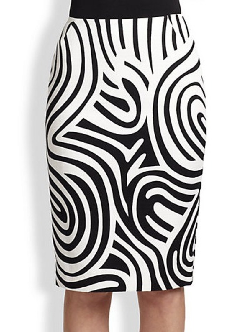 Lafayette 148 New York Printed Exclusive Skirt