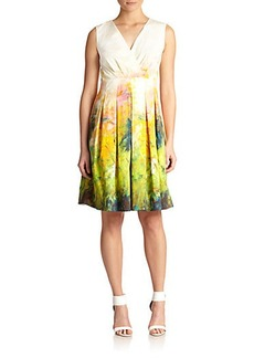 Lafayette 148 New York Printed Faux-Wrap Dress