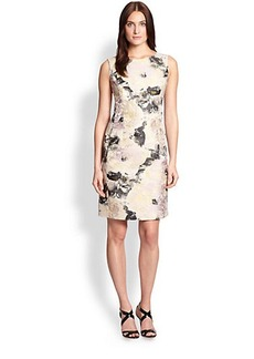 Lafayette 148 New York Printed Jacquard Dress