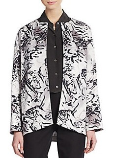Lafayette 148 New York Printed Open-Front Jacket