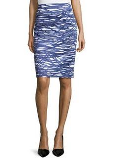 Lafayette 148 New York Printed Pencil Skirt, Luna/Multi