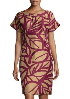 Lafayette 148 New York Printed Short-Sleeve Shift Dress