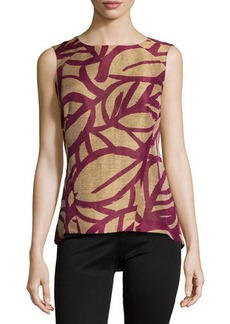 Lafayette 148 New York Printed Sleeveless High-Low Top