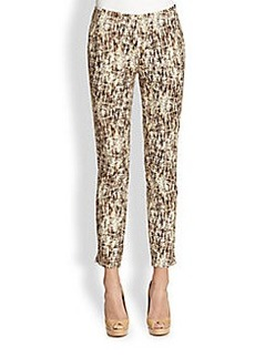 Lafayette 148 New York Printed Stretch Cotton Stanton Pants