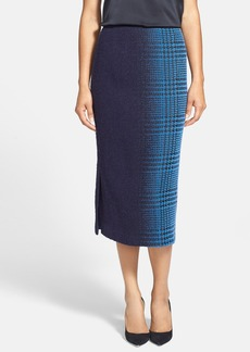 Lafayette 148 New York 'Priscilla - Hazed Herringbone' Slim Midi Skirt (Regular & Petite)