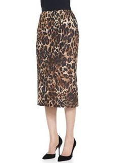 Lafayette 148 New York Priscilla Leopard-Print Skirt