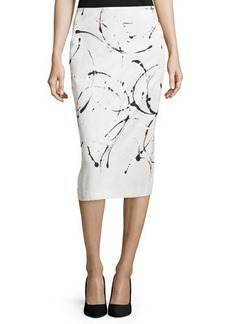 Lafayette 148 New York Priscilla Pencil Midi Skirt