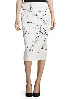 Lafayette 148 New York Priscilla Pencil Midi Skirt