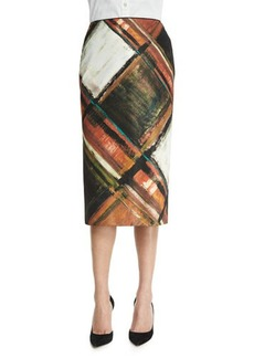 Lafayette 148 New York Priscilla Pencil Skirt, Masala Multi