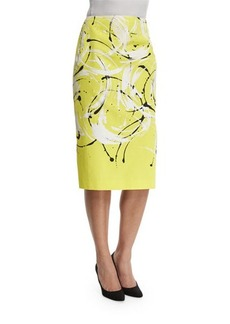 Lafayette 148 New York Priscilla Printed Pencil Skirt