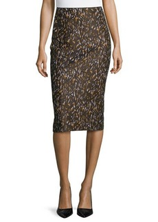 Lafayette 148 New York Priscilla Printed Pencil Skirt, Masala Multi
