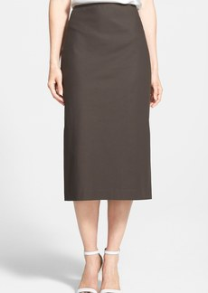 Lafayette 148 New York 'Priscilla' Stretch Cotton Midi Skirt