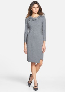 Lafayette 148 New York Punto Milano Drape Neck Dress