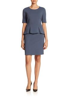 Lafayette 148 New York Punto Milano Knit Peplum Dress