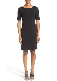 Lafayette 148 New York Punto Milano Seam Detail Sheath Dress