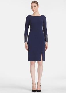 Lafayette 148 New York Punto Milano Square Neck Sheath Dress (Regular & Petite)