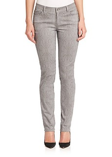 Lafayette 148 New York Python-Print Skinny Jeans