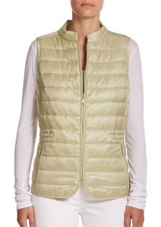 Lafayette 148 New York Quilted Cinched Vest