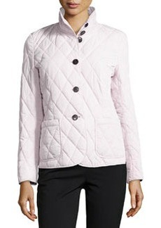 Lafayette 148 New York Quilted Stand-Collar Jacket, Pink Quartz