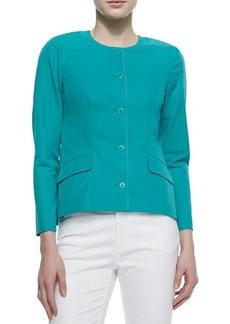 Lafayette 148 New York Reanna Collarless Button-Front Jacket