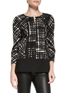 Lafayette 148 New York Reese Printed Blouse