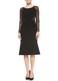 Lafayette 148 New York Regina Sheer-Sleeve Dress