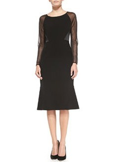 Lafayette 148 New York Regina Sheer-Sleeve Dress