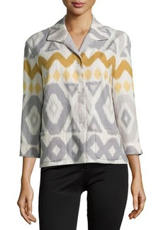 Lafayette 148 New York Reina Printed Topper Jacket