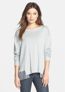 Lafayette 148 New York Relaxed Bateau Neck Sweater
