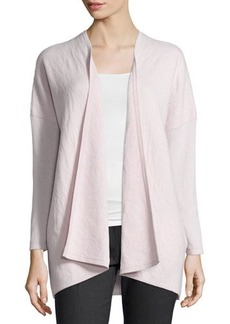 Lafayette 148 New York Relaxed Cashmere Jacquard Cardigan