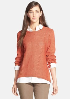 Lafayette 148 New York Relaxed Drop Hem Sweater