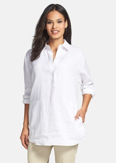 Lafayette 148 New York Relaxed Fit Linen Shirt