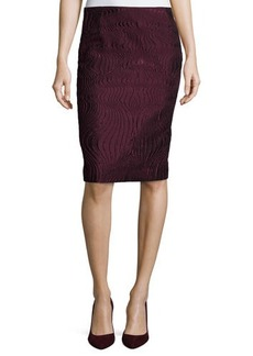 Lafayette 148 New York Revelin Crepe Twill Pencil Skirt