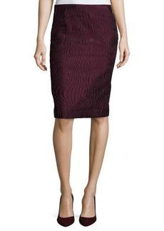 Lafayette 148 New York Revelin Crepe Twill Pencil Skirt