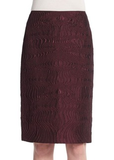 Lafayette 148 New York Revelin Scroll Jacquard Skirt