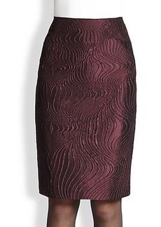 Lafayette 148 New York Revelin Scroll Jacquard Skirt