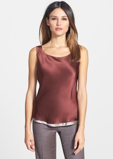 Lafayette 148 New York Reversible Refined Silk Charmeuse Tank (Regular & Petite)