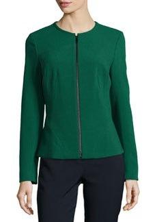 Lafayette 148 New York Revina Zip-Front Jacket, Emerald