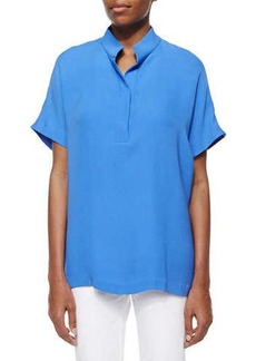 Lafayette 148 New York Reyn Short-Sleeve Blouse