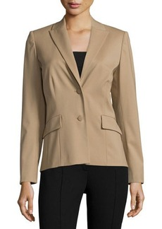 Lafayette 148 New York Rhonda Two-Button Fitted Jacket