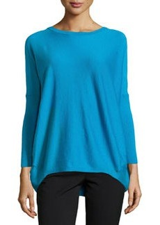 Lafayette 148 New York Ribbed Back Dolman Sweater, Cerulean