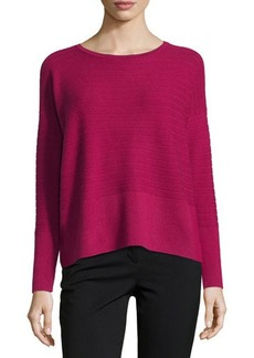 Lafayette 148 New York Ribbed Cashmere-Blend Sweater