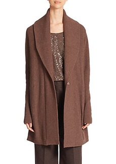Lafayette 148 New York Ribbed Long Wool Cardigan