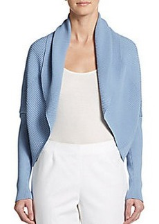 Lafayette 148 New York Ribbed Shawl Cardigan