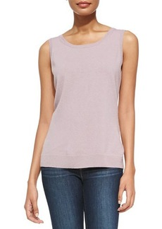 Lafayette 148 New York Ribbed-Trim Cashmere-Blend Tank