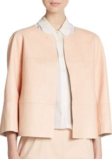 Lafayette 148 New York Ritchie Embossed Leather Jacket