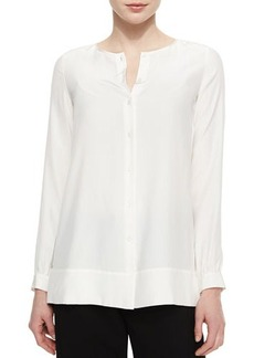 Lafayette 148 New York Rizalina Long-Sleeve Silk Blouse, Cloud