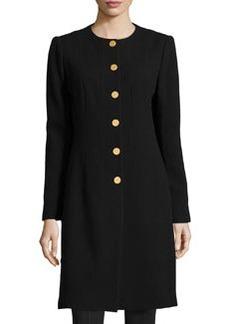 Lafayette 148 New York Roland Long Button-Front Jacket, Black